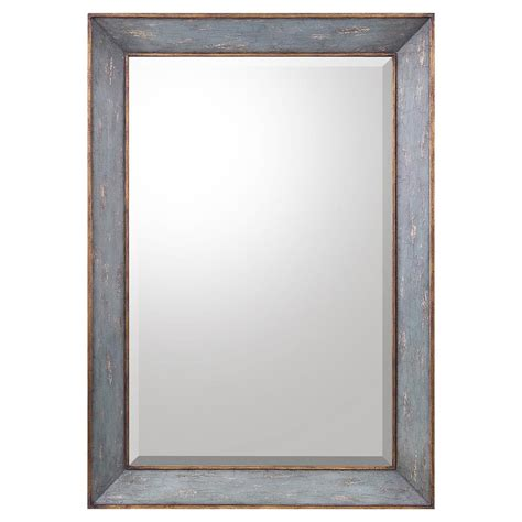 country wall mirrors camille country antique blue gold wall mirror