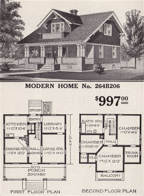modern craftsman ranch houselans sears home bungalow house plans one 1916 sears modern home 264b206 swiss chalet craftsman