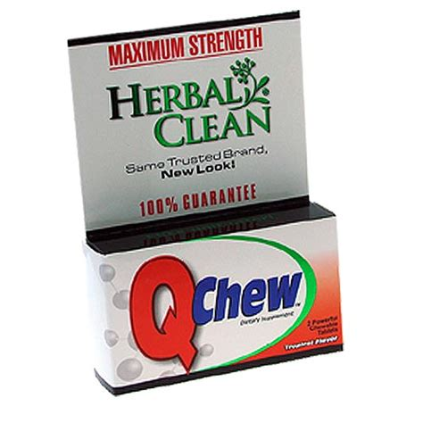 Detox Pills For Test by Qclean Chewable Detox Supplements From Herbal Clean
