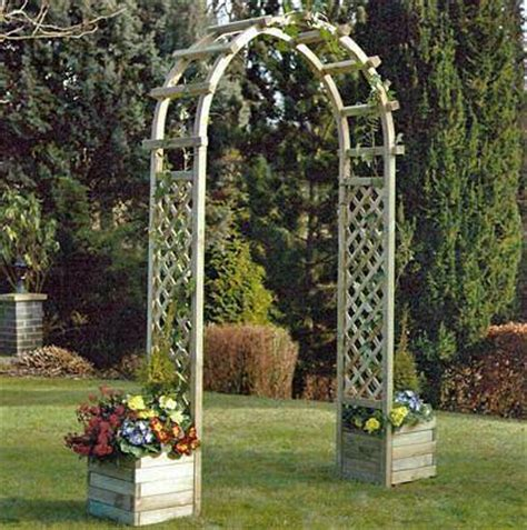 Arch With Planters by Rowlinson Arch With Planters