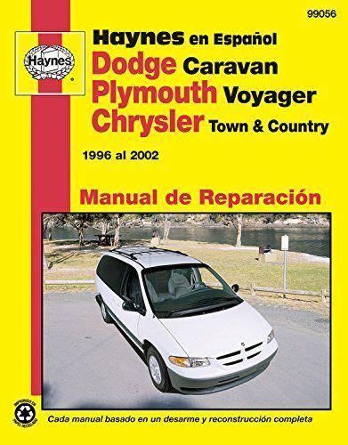 hayes car manuals 1996 chrysler town country on board diagnostic system plymouth voyager y chrysler town country haynes manual de reparacion por 1996 al 2002 no