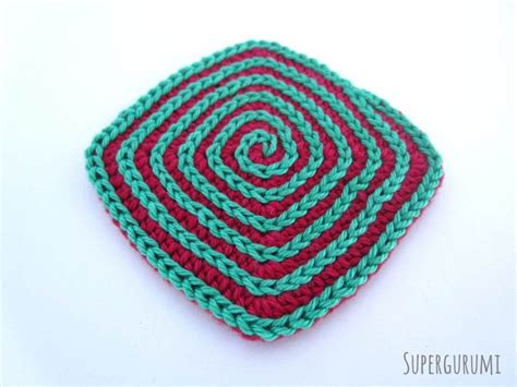 crochet pattern x square crochet coaster pattern supergurumi