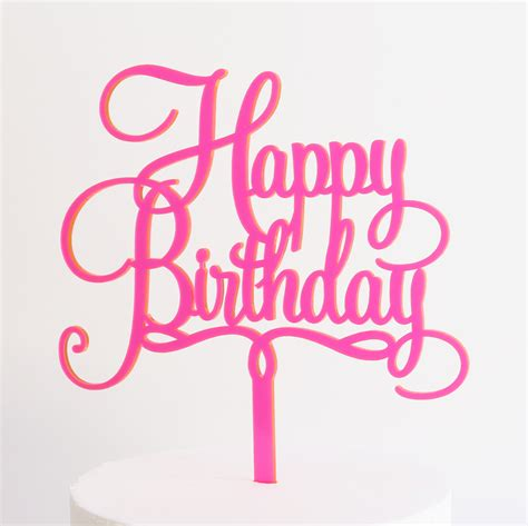 Topper Happy Birthday J happy birthday cake topper dillon design