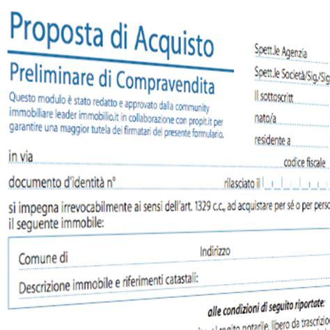 compromesso per acquisto casa modulo proposta di acquisto immobiliare tra privati o con