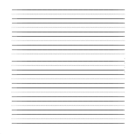 printable blank lined handwriting paper primary