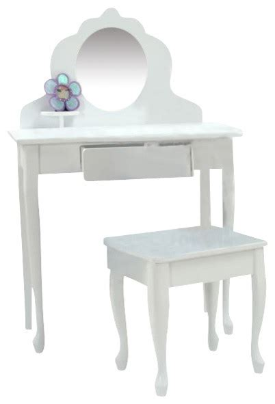 Youth Vanity Table Kidkraft Medium Wood Makeup Vanity Table Stool For With Mirror Traditional
