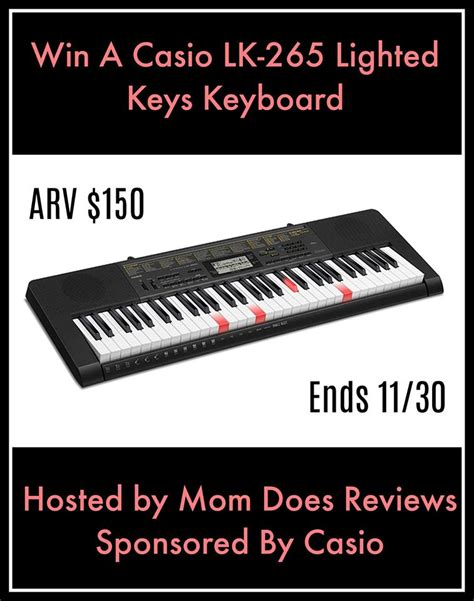 Keyboard Giveaway - casio lk 265 lighted keys keyboard giveaway donnahup com