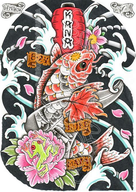 japanese koi tattoo wallpaper koi and japanese lantern by dfmurcia on deviantart