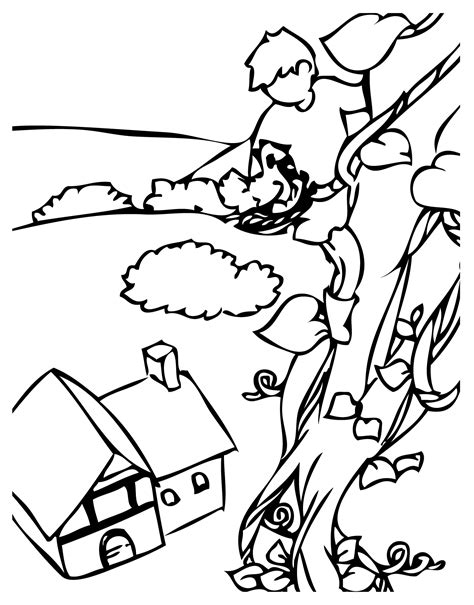 Free Coloring Pages Of Jack And The Beans And The Beanstalk Coloring Page
