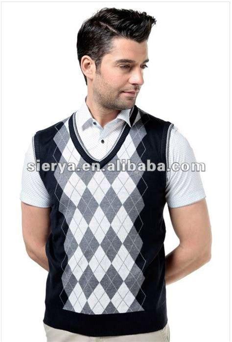 Diamond Pattern Sleeveless Jumper | men s diamond pattern cotton vest sleeveless sweater