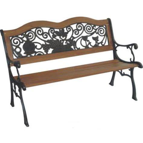 park benches home depot parkland heritage wine tasting park bench sl2006 wt the