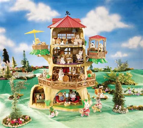calico critters tree house amazon com calico critters country tree house toys games