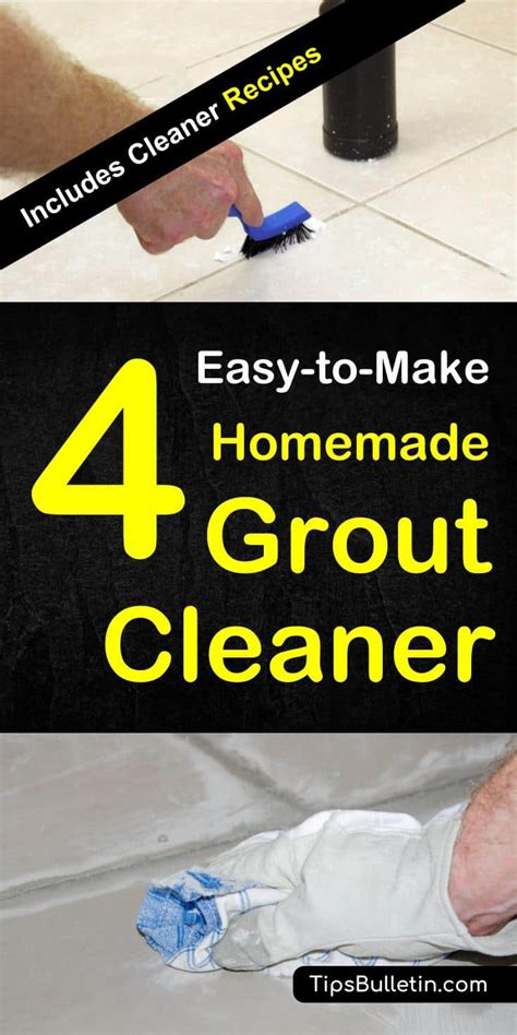 Diy Bathroom Cleaner Recipe - 4 easy to make grout cleaner
