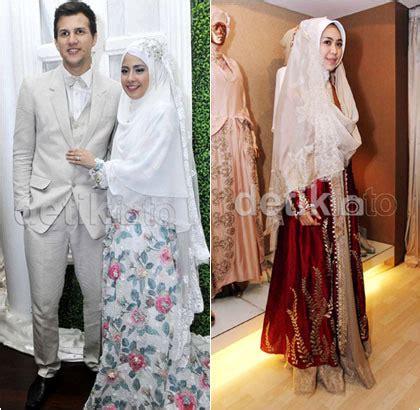 Intan Syari Dress inspirasi busana pengantin syar i dari 5 selebriti indonesia