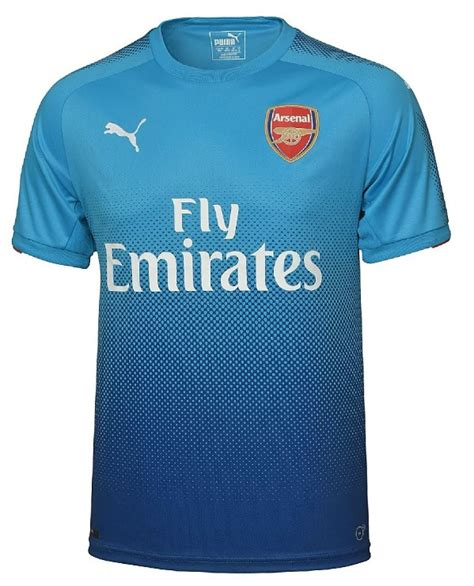 New Jersey Arsenal Away 20172018 blue arsenal shirt 2017 2018 new gunners away kit 17 18