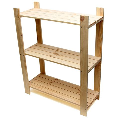tier pine shelf unit pine shelves   wooden