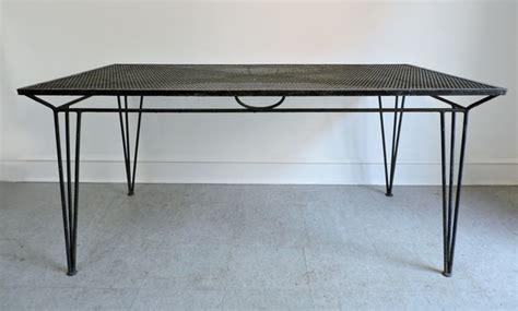 mid century modern salterini wrought iron patio table