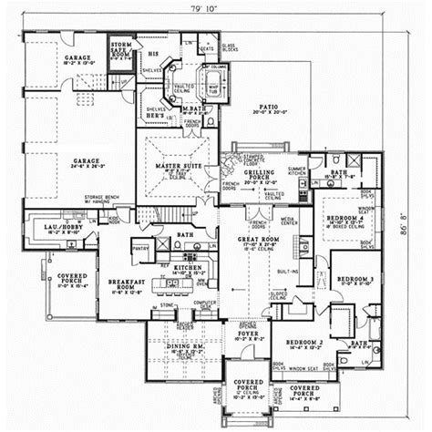 secure house plans superb house plans with safe rooms 7 european style house plans 3354 square foot home 1 story 4