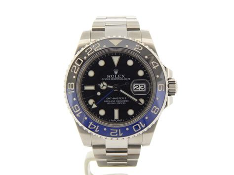 Rolex Gmt Master Ii Wblu For rolex mens stainless steel gmt master ii for sale sku