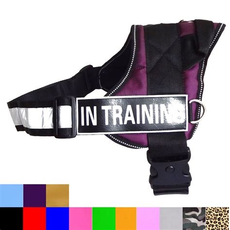 puppy in vest reflective service vest w handle harness 2 patches in therapy ebay