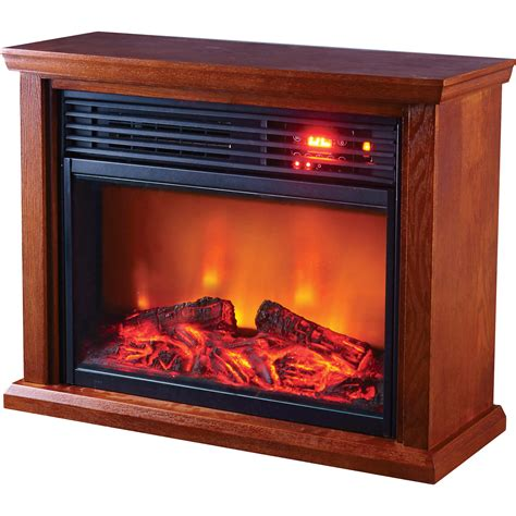 Profusion Heat Infrared Electric Fireplace 5118 Btu Oak Electric Logs For Fireplace With Heat