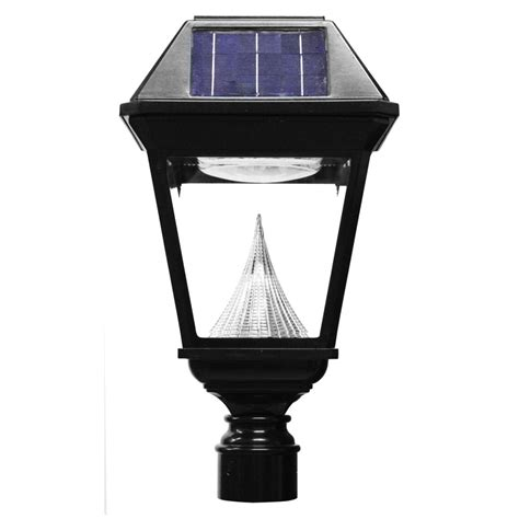 gama sonic imperial ii solar post light commercial