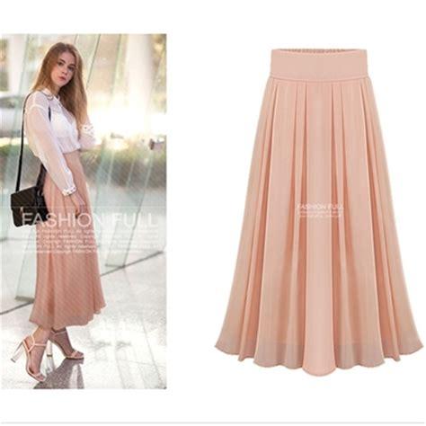 new fashion skirt summer layer chiffon pleated tulle maxi skirt high waist