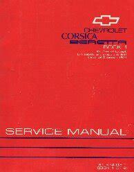 1993 chevrolet corsica beretta factory service manual 2 volume set