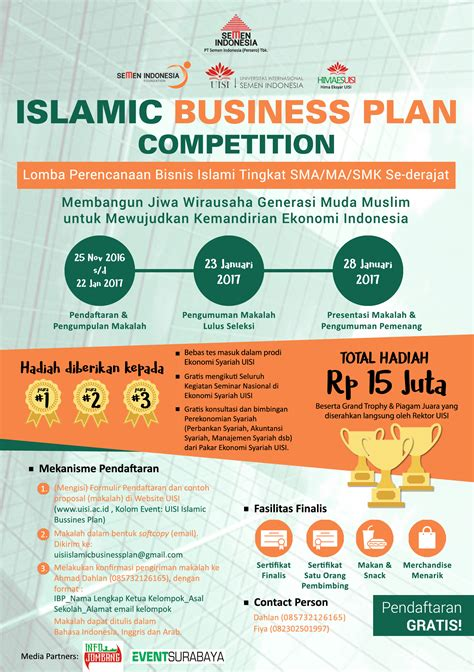 design competition indonesia 2017 islamic business plan competition 2017 event indonesia