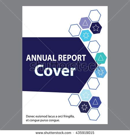 annual report cover page template blue annual report title page sle stock vector