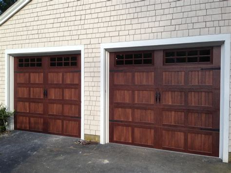 Faux Wood Garage Doors Modern Shed Boston By Boston Overhead Door