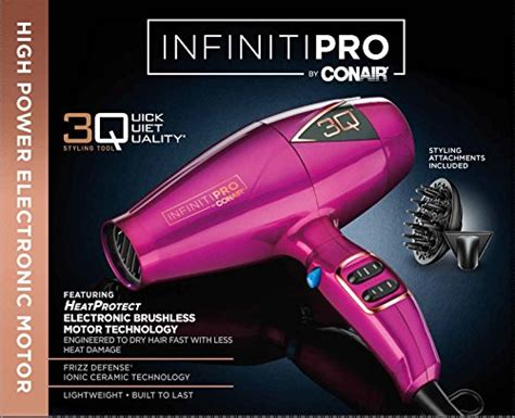 Conair Hair Dryer Malaysia infiniti pro by conair 3q compact electronic brushless motor styling tool hair dryer pink