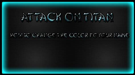 how to change the color of your name in minecraft aottg how to change the color of your name