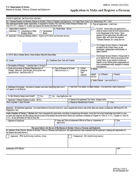 nfa trust template nfa trusts filing atf form 1 atf f 5320 1