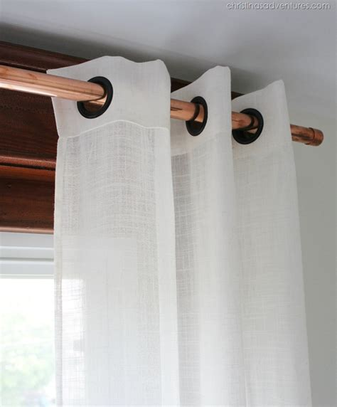 curtains pipe thrifty copper pipe curtain rod christinas adventures