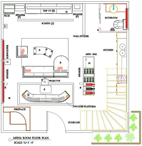 Media Room Floor Plans | media room sepideh s design