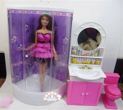 barbie doll bathroom doll furniture christmas gift bathroom set accessories for