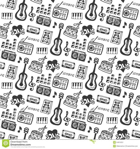 the sonars musical doodle free seamless pattern with doodle musical instruments and