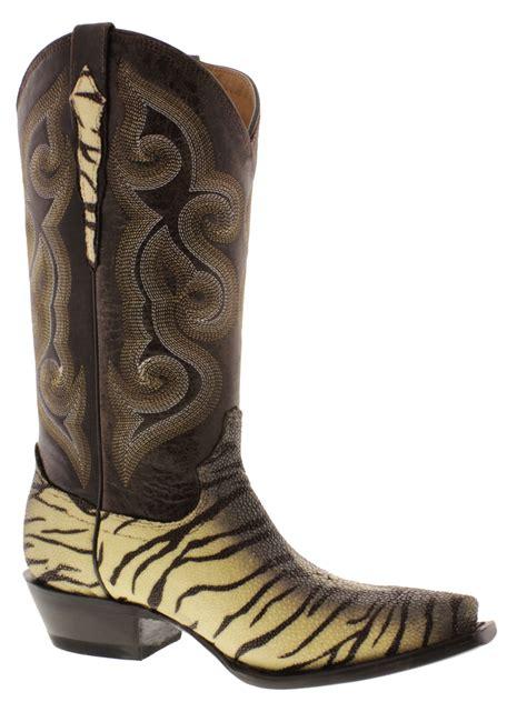 s cowboy boots yellow genuine stingray