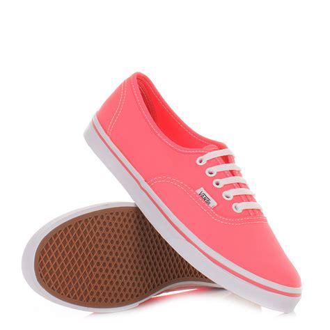 coral shoes womens vans authentic lo pro neon coral shoes