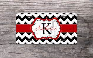 Cute Vanity Plates Cute License Plate Black Chevron With Pretty Red By