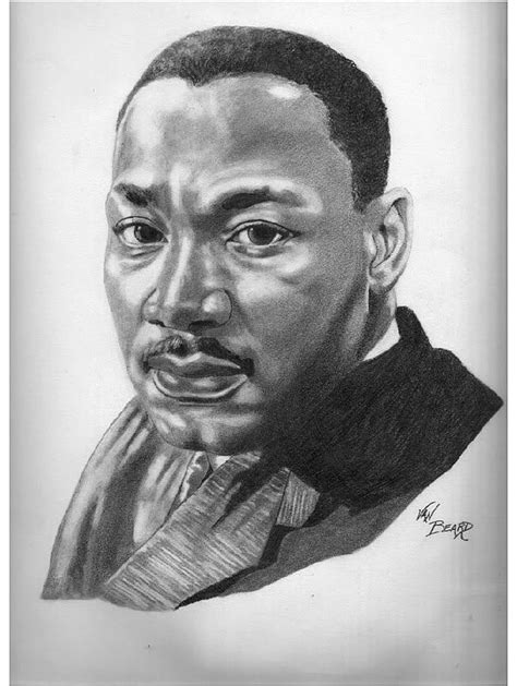 how to draw martinlutherking