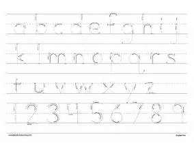 Alphabet Letter Tracing Templates by Lower Letter Practice Sheets Handwriting