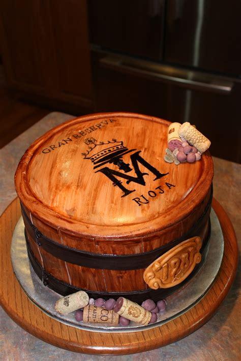 barrel cake wine barrel anniversary cake cakecentral com