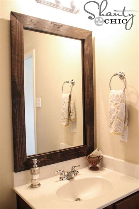pinterest bathroom mirror ideas best 25 bathroom mirror redo ideas on pinterest diy mirror