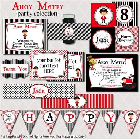 ahoy matey pirate printable iron on label by hamandpea on etsy 22 best mason s under the sea bowling bash images on