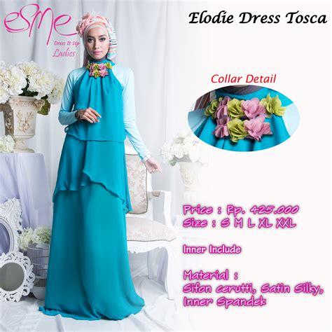 Syari Syifa Maxi Busana Muslim baju gamis warna hijau tosca