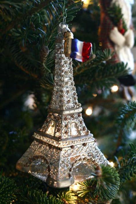 cut crystal eiffel tower xmas ornament eab designs a bit of cheer