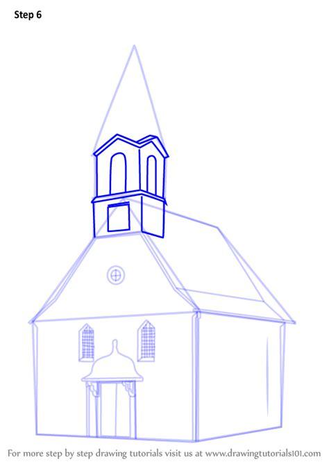 learn   draw  church building christianity step
