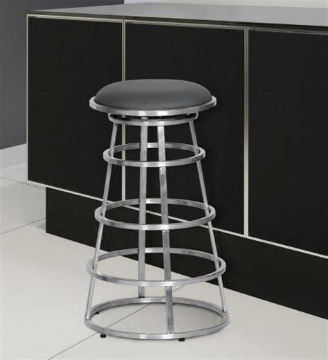 Stainless Steel Backless Bar Stools by Top 8 Gray Bar Stools For Industrial Interiors